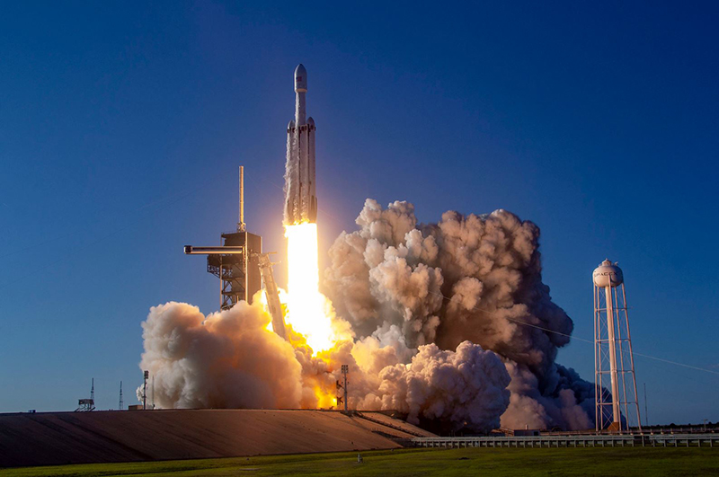The Falcon Heavy carried a large Saudi Arabian communications satellite into orbit.