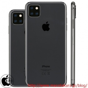 Mockups of the 5.8-inch and 6.5-inch 2019 iPhone models. <br>Image source: Macotakara