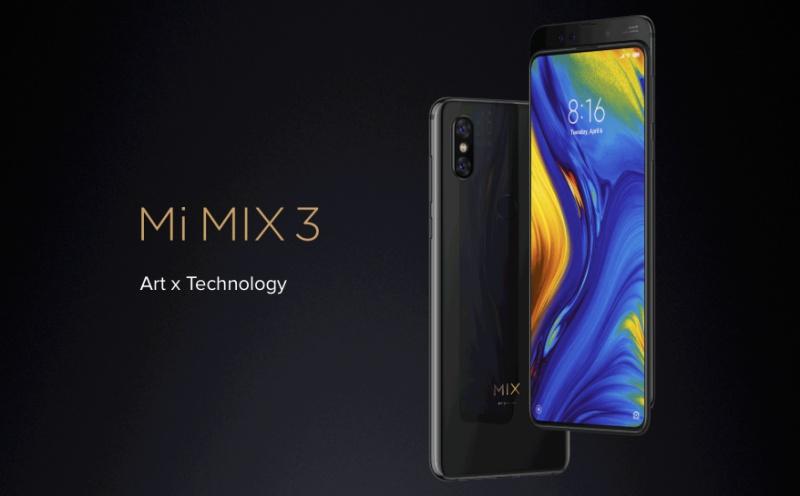 The Xiaomi Mi Mix 3.