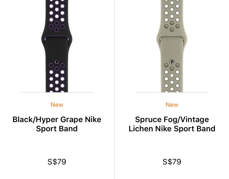 New Nike Sport Band colors.