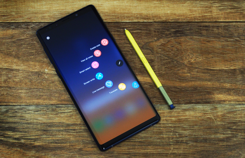 The Samsung Galaxy Note9.