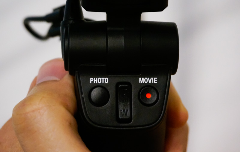 Handy capture buttons let you start recording from the handle itself.