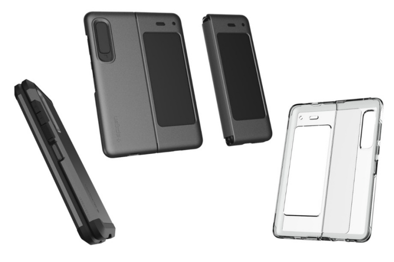 The three Spigen cases for the Samsung Galaxy Fold. <br>Image source: The Verge