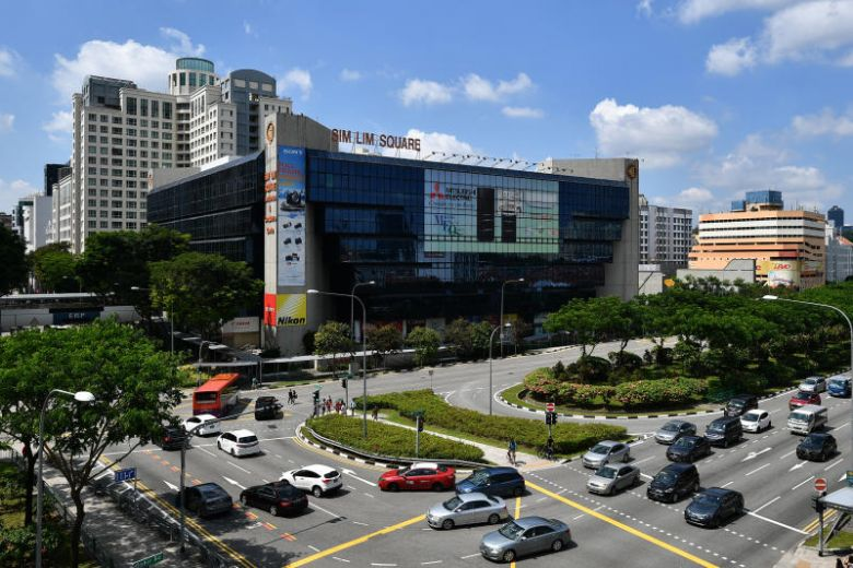 Sim Lim Square is a 99-year leasehold building with 492 units, and was completed in 1987, with a floor area of 22,007 sq m. (ST PHOTO: LIM YAOHUI.)
