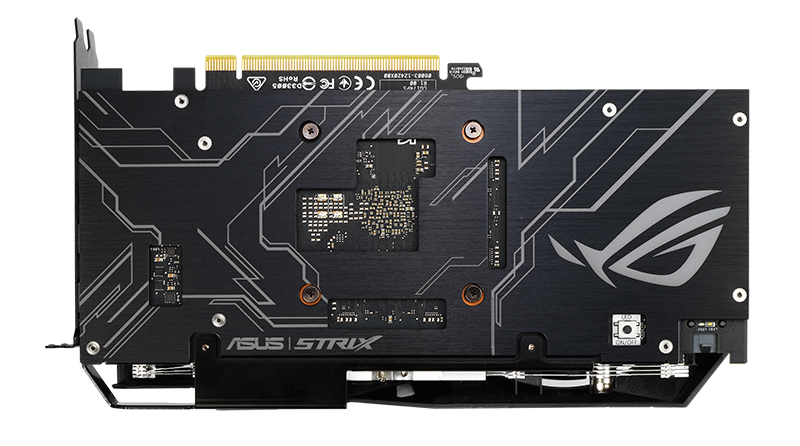 Here's a look at the metal backplate. (Image Source: ASUS)
