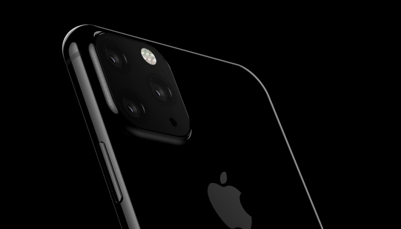 Purported render of the rear camera setup on the iPhone XI. <br>Image source: Digit.in and @OnLeaks