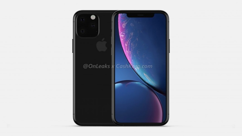 Purported final CAD render of the 2019 iPhone model.