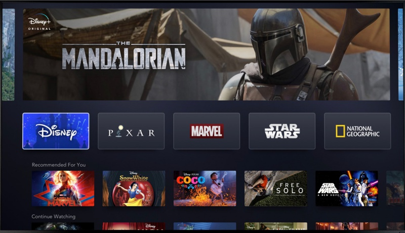 The first look at Disney+. <br>Image source: @RobertIger