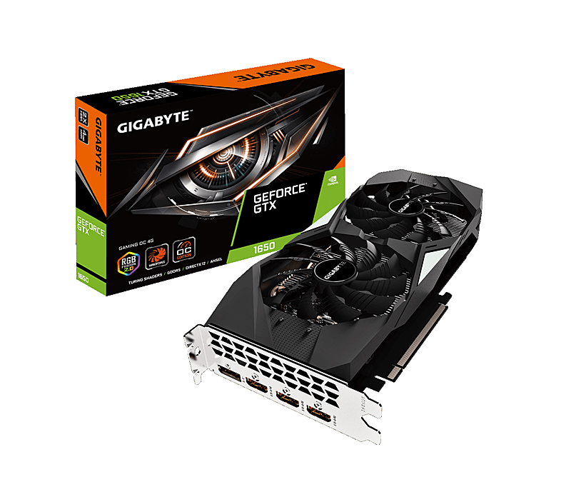 Gigabyte GeForce GTX 1650 Gaming X 4G (Image source: Gigabyte)