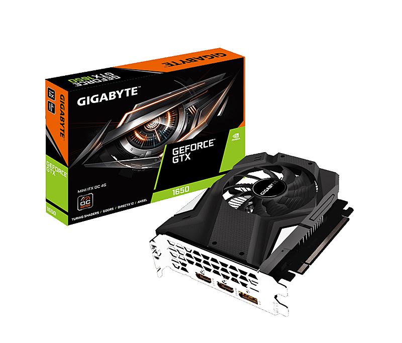 Gigabyte GeForce GTX 1650 Mini ITX OC 4G (Image source: Gigabyte)