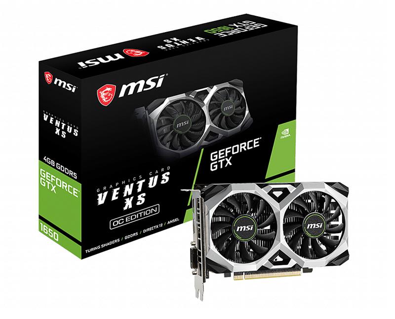 MSI GeForce GTX 1650 Ventus XS 4G OC (Image source: MSI)