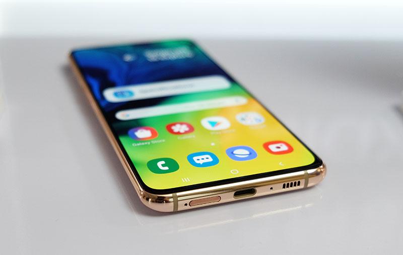 Hasil gambar untuk Samsung A80 ini speaker