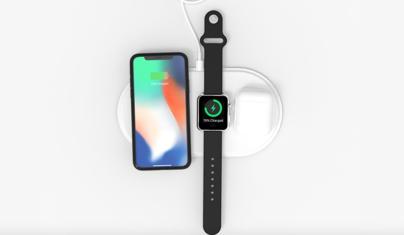 The AirUnleashed wireless charging pad can charge the iPhone, Apple Watch and AirPods at the same time. <br>Image source: AirUnleashed
