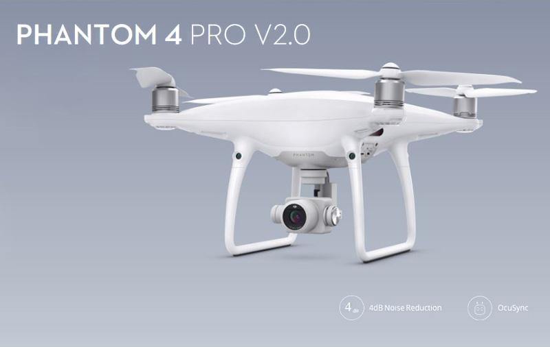 The DJI Phantom 4 Pro V2.0.