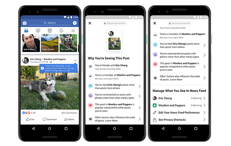 Facebook will now explain why a post appears on your News Feed