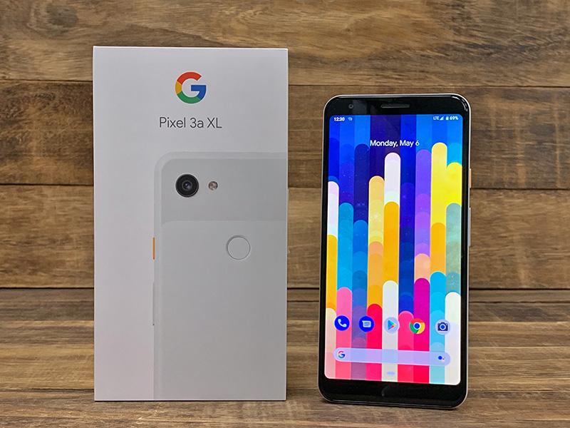 The Google Pixel 3a XL.