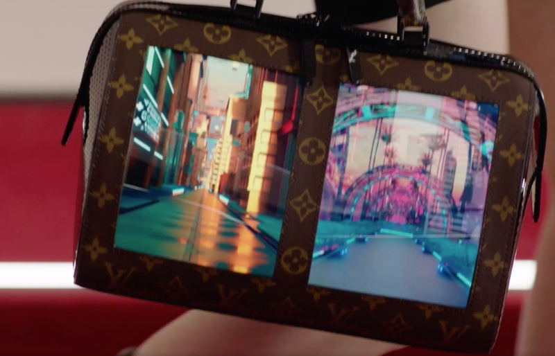Louis Vuitton showcased several bag prototypes with flexible OLED displays during the Cruise 2020 show in New York.