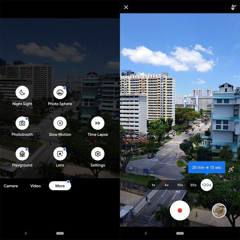 It's great that Google is building a time lapse feature into its Camera app, because, believe me, I've had trouble finding good 3rd party time lapse apps in the Google Play store.