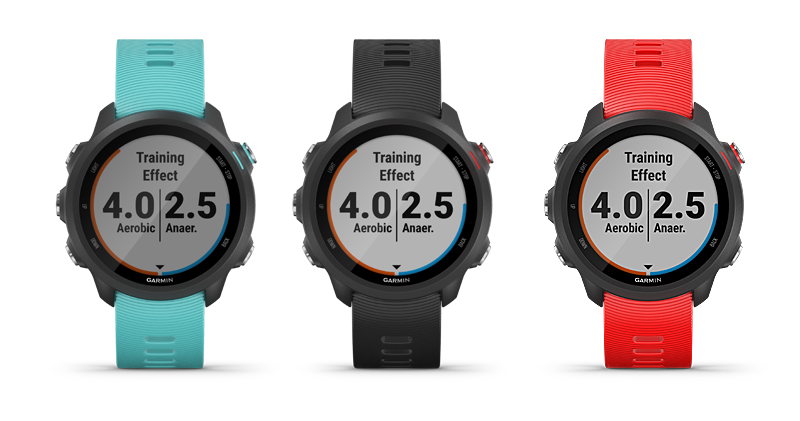 Forerunner 245 Music in Aqua, Black and Lava Red (Image source: Garmin)