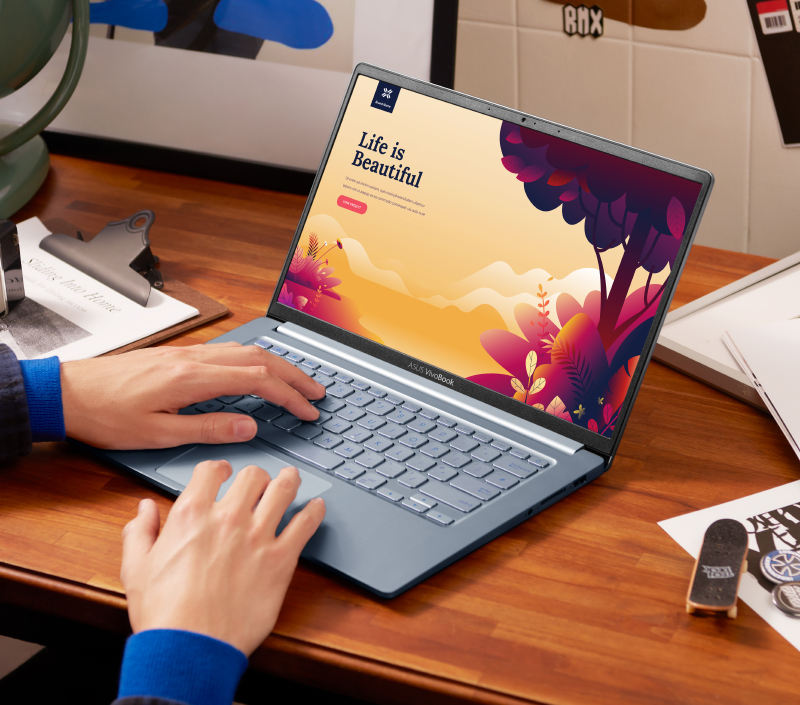 The VivoBook S14's party trick is its super long battery life. (Image source: ASUS)