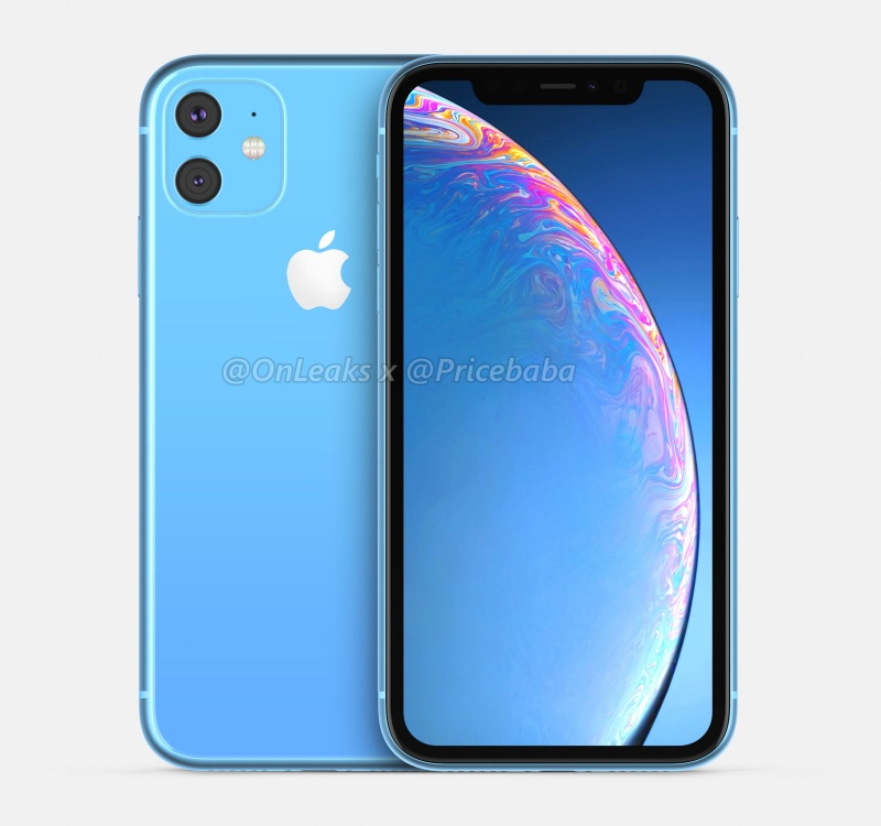 Purported render of the Apple iPhone XR 2019.