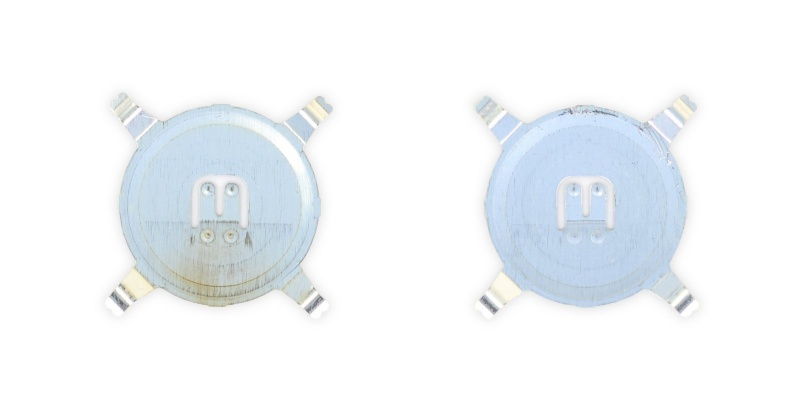 Comparison of the dome switches. <br>Image source: iFixit