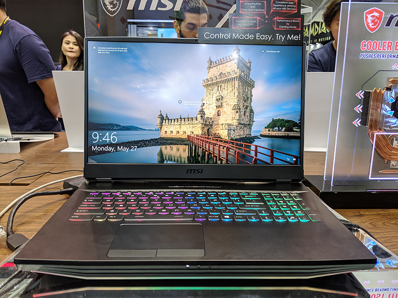 MSI's flagship GT76 Titan laptop can run a desktop Core i9