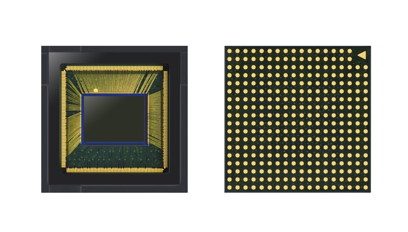 The 64MP Samsung ISOCELL Bright GW1 mobile camera sensor. <br>Image source: Samsung