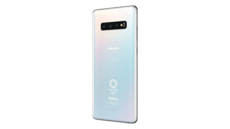 The Samsung Galaxy S10+ Olympic Games Edition. <br>Image source: NTT Docomo