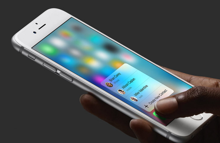 Apple introduced 3D Touch on the iPhone 6s and 6s Plus in 2015.