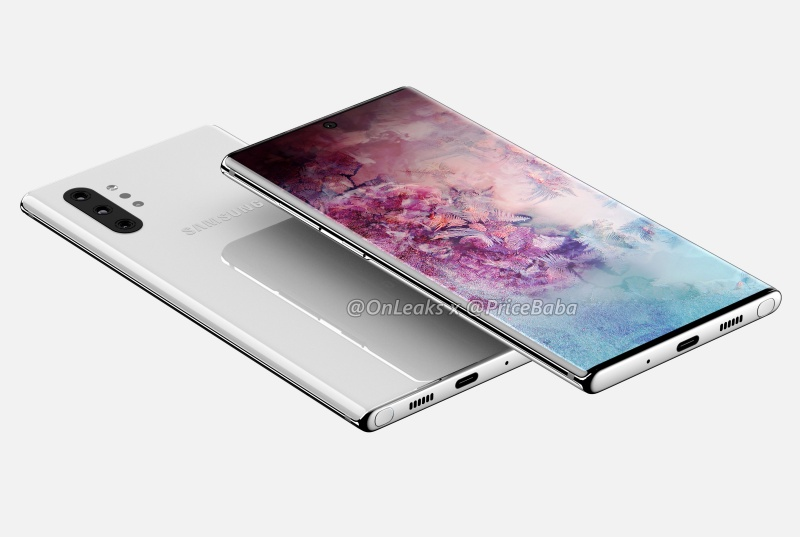 Purported render of the Samsung Galaxy Note10 Pro. <br>Image source: @OnLeaks and Pricebaba