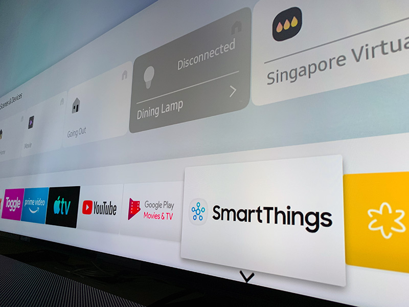 In addition to a mobile version that's available on both iOS and Android, there's also a SmartThings app for Samsung smart TVs. The latter brings home control features to the big screen.