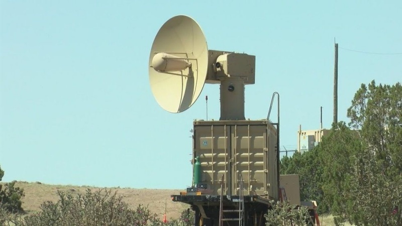 The U.S Air Force has a new weapon, the Tactical High Power Microwave Operational Responder (THOR) to take out swarms of drones. <br>Image source: KRQE
