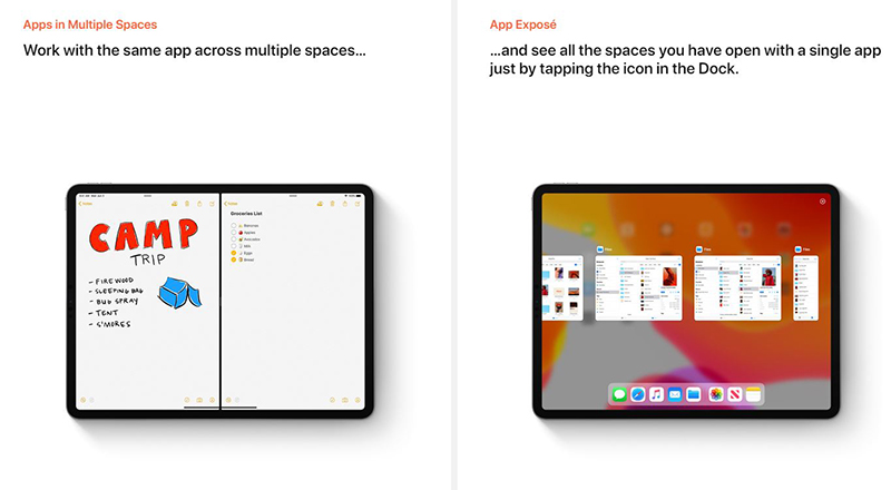 You can open multiple instances of the same app with Split View and view them all at once with App Exposé..