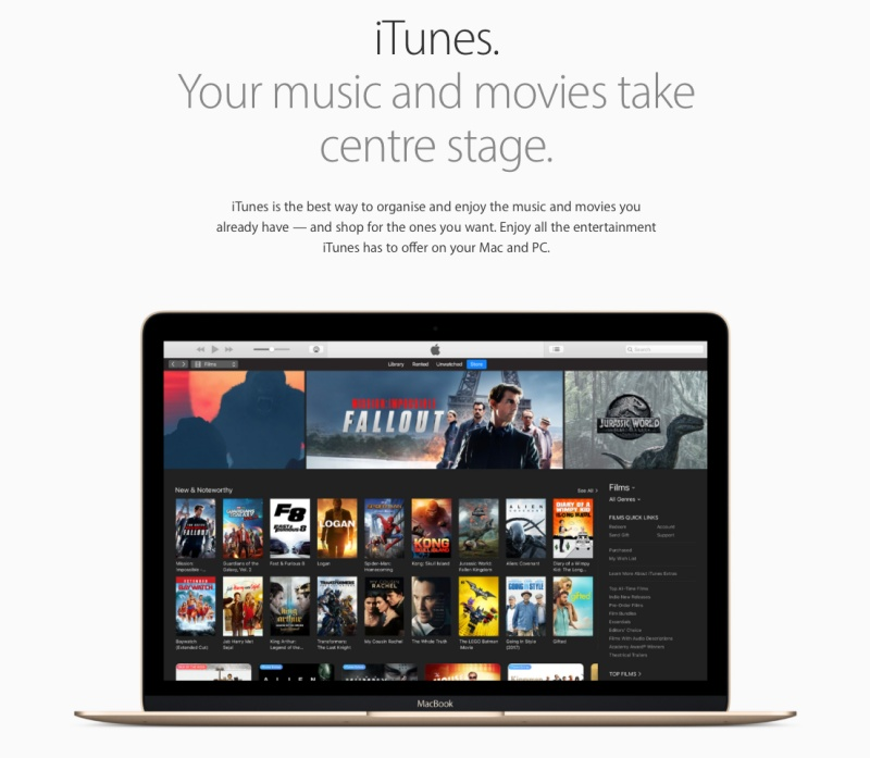 iTunes was launched 16 years ago.