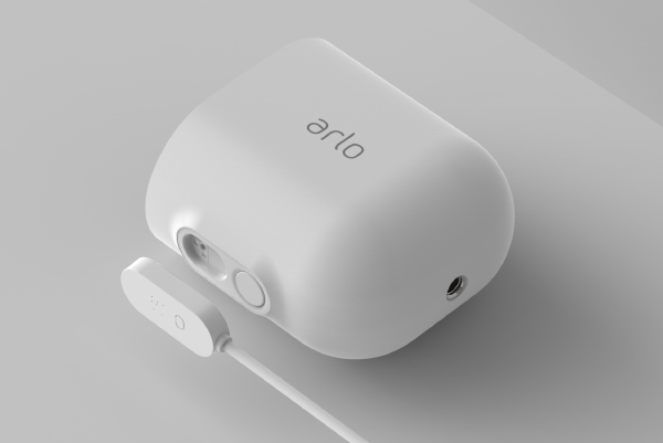 Outdoor weather-resistant charging cables are available for the Arlo Ultra. (Image source: Arlo)