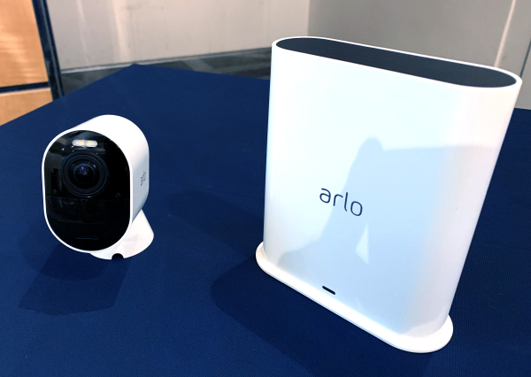 This is the Arlo Ultra camera and the Arlo SmartHub.