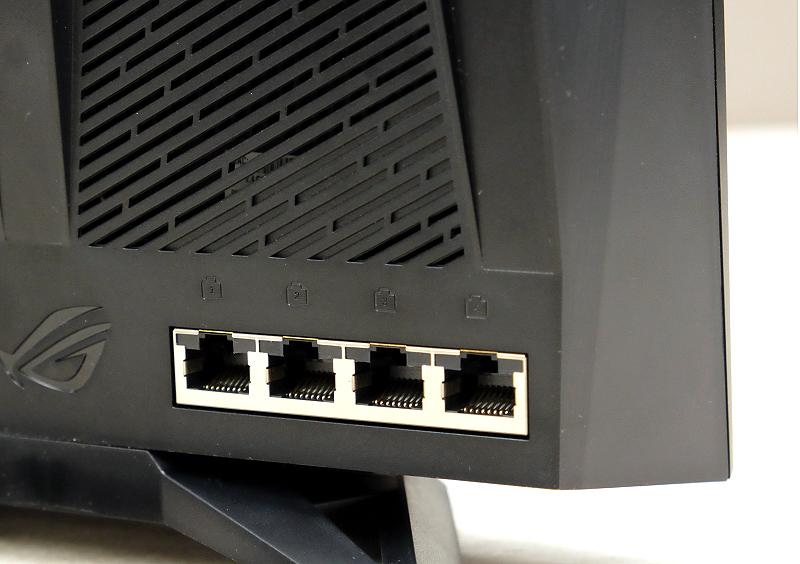 The first and second LAN ports can be used together to create a single 2Gbps connection.