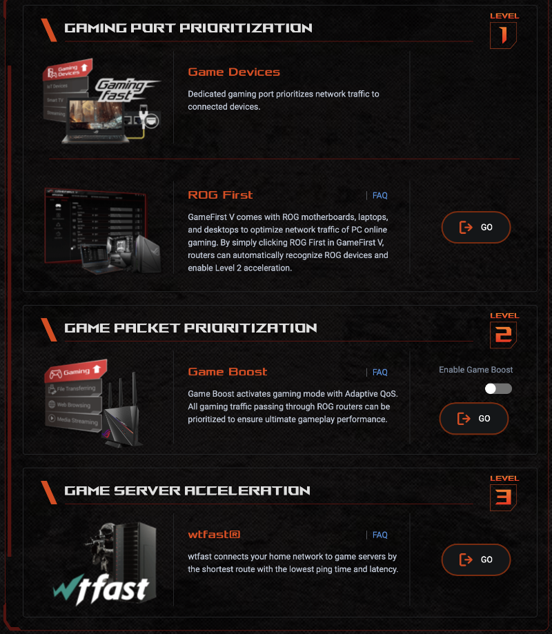 One of the key feature of ROG gaming routers is how they prioritise gaming traffic.