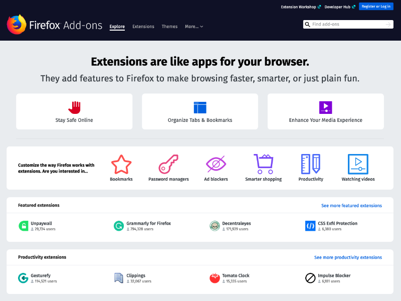 Customize Firefox Homepage