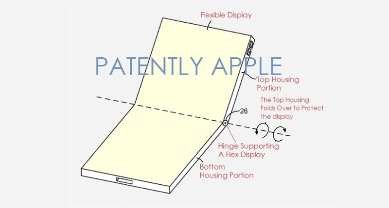 Apple was also said to be working on a foldable iPhone. <br>Image source: Patently Apple
