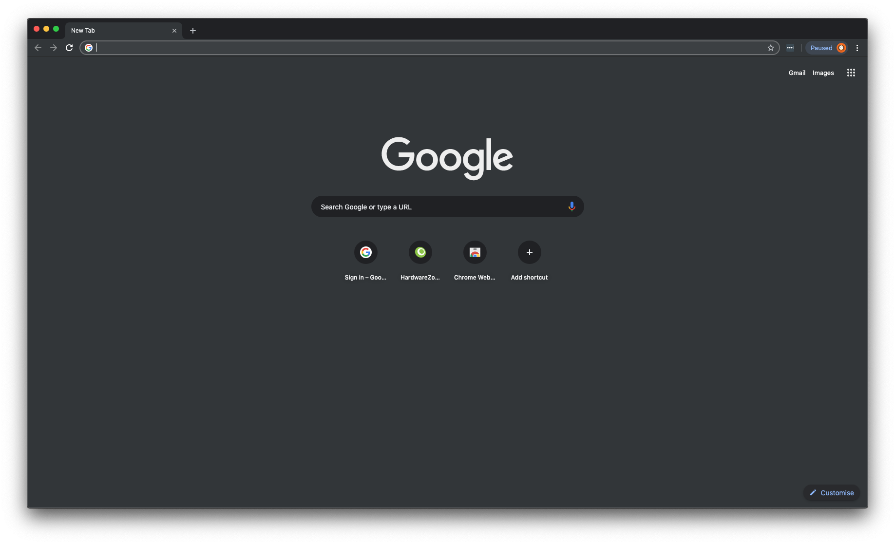 Chrome has a clean interface and looks modern, especially in Dark Mode on macOS.