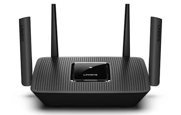 The Linksys MR8300 tri-band mesh gaming router. (Image source: Linksys)