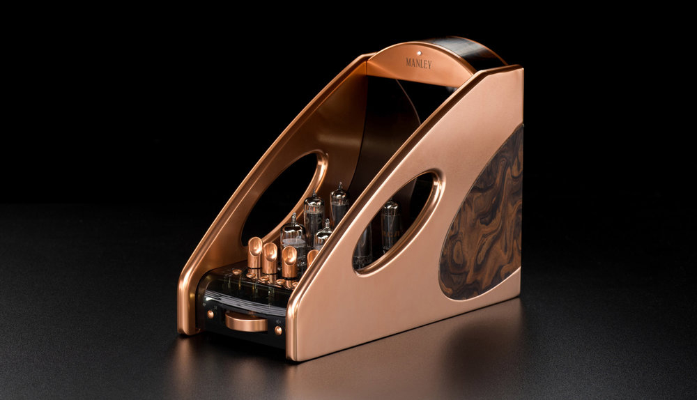 Tube amplifiers, like this Manley Absolute, are favoured for their organic and warm sound, and also for the way they look. (Image source: Manley)