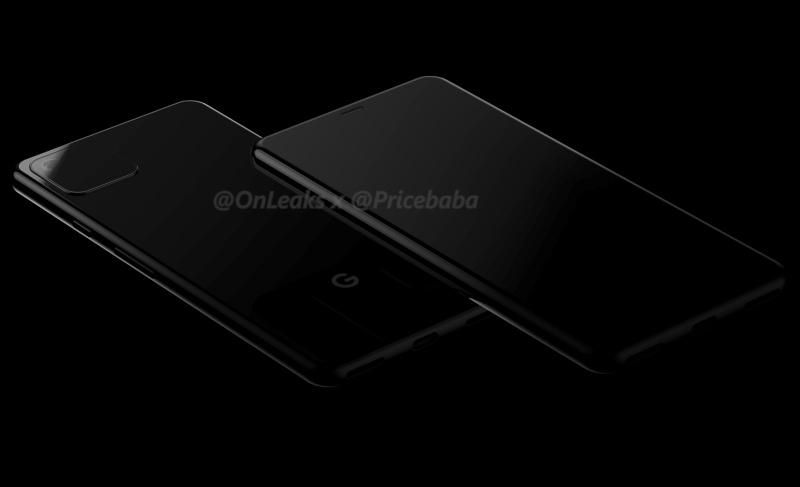 Purported render of the Google Pixel 4.