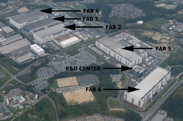 The Yokkaichi facility. (Image source: Anandtech)