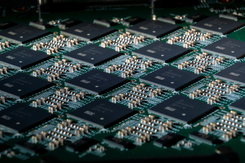 A close-up shot of an Intel Nahuku board, each of which contains 8 to 32 Intel Loihi neuromorphic chips. (Image source: Intel)