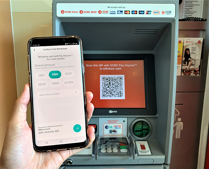 OCBC customers can now withdraw cash from an ATM without
