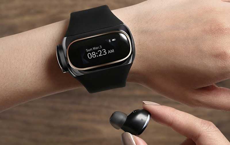 No more losing your earbuds when they fit right into your watch.