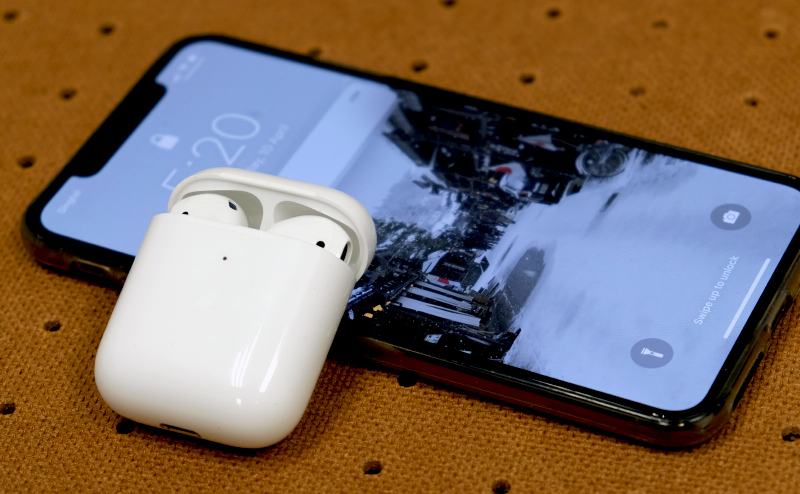 The Apple AirPods (2019).